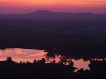 Sunrise sunset twilight silhouette scene Stock Image