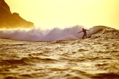 Sunrise surf Royalty Free Stock Photography