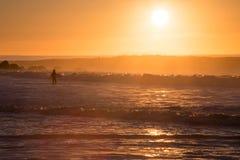 Sunrise surf session Stock Photos
