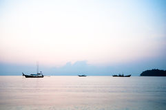 Sunrise at Surin island,southern of Thailand Royalty Free Stock Photo