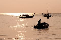 Sunrise at Surin island,southern of Thailand Stock Image