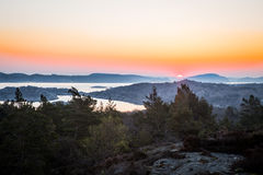 Sunrise on swedish coast. Early morning in the western part of sweden royalty free stock image