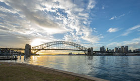 Sunrise Sydney Harbor bridge. Stock Images