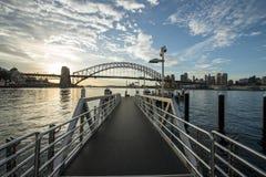Sunrise Sydney Harbor bridge. Royalty Free Stock Image
