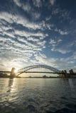 Sunrise Sydney Harbor bridge. Royalty Free Stock Photography