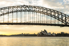 Sunrise Sydney Opera house. Royalty Free Stock Photos