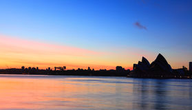 Sunrise Sydney Opera House silhouette Royalty Free Stock Photos