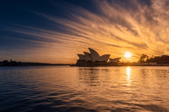 Sunrise on Sydney Opera House Sydney Australia. NOV 09,2016. Sydney Opera House is modern building, well known worldwide. Designed by Danish architect John Stock Photos