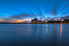 Sunrise on Sydney Opera House Sydney Australia. NOV 09,2016. Sydney Opera House is modern building, well known worldwide. Designed by Danish architect John Royalty Free Stock Photos