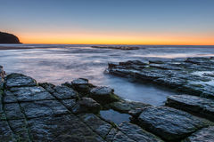 Sunrise from Sydney sea. royalty free stock images