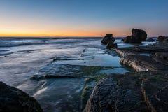 Sunrise from Sydney sea. Royalty Free Stock Photo