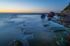 Sunrise from Sydney sea. Stock Photo