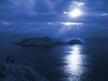 Sunrise. Taba, Salah El-Din Castle Stock Image