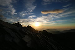 Sunrise in Taiwan Nanhu mountain Stock Images