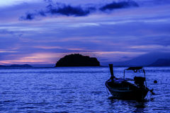 Sunrise from tarutao island Stock Photography