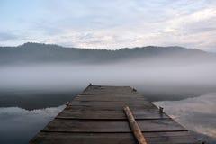 Sunrise at the Teletskoye lake Stock Photos