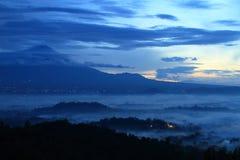 Sunrise on temple Borobudur stock photos