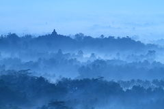 Sunrise on temple Borobudur stock images