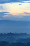 Sunrise on temple Borobudur Royalty Free Stock Image