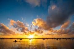 Sunrise on Teresitas beach Royalty Free Stock Image