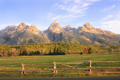 Sunrise in the Tetons Royalty Free Stock Image