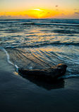 Sunrise Texas Beach Deep Vertical Nature Ocean recycling. Surfs Up at Padre Island Texas Beach Wave Break. Summer time at the beach is a relaxing vacation for Royalty Free Stock Photos