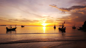 Sunrise at Thai sea. Bangsapan, Prachuap khiri khan stock photography