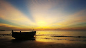 Sunrise at Thai sea. Bangsapan, Prachuap khiri khan royalty free stock photos