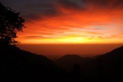 Sunrise in thailand. Sunrise at doi angkarng, Chiang Mai Thailand Stock Image