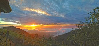 Sunrise. In Thailand Royalty Free Stock Photography