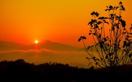 Sunrise Thailand. Landscape sky Mountain Royalty Free Stock Images