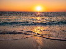 Sunrise in Thassos at the beach stock photos