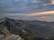 Sunrise on Thassos Island, Greece Royalty Free Stock Photography