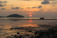 Sunrise. On thes Beach Beautiful Phuket Thailand Stock Images