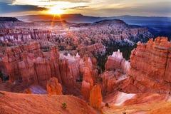 Sunrise Thor's Hammer Bryce Canyon National Park Utah Stock Image