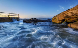 Sunrise at Tidal pool in North curl curl. Sydney, Australia Stock Photography