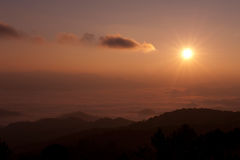 Sunrise time in the mountain Royalty Free Stock Photo