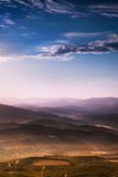 Sunrise time in mountain valley Royalty Free Stock Photos