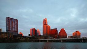 Sunrise Timelapse of Austin, Texas skyline 4K. A Sunrise Timelapse of Austin, Texas skyline 4K stock video footage