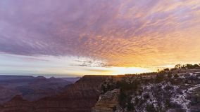 Sunrise timelapse of the beautiful Mather Point in South Rim of Grand Canyon National Park. At Arizona, United States stock video