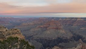 Sunrise timelapse of the beautiful Mather Point in South Rim of Grand Canyon National Park. At Arizona, United States stock footage