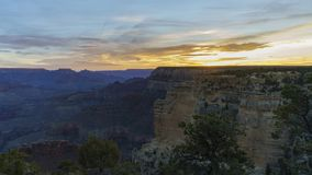 Sunrise timelapse of the beautiful South Rim of Grand Canyon National Park. At Arizona, United States stock video