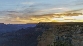 Sunrise timelapse of the beautiful South Rim of Grand Canyon National Park. At Arizona, United States stock footage