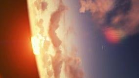 Sunrise timelapse clouds stock video footage