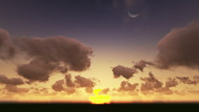 Sunrise timelapse night to day stock footage
