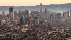 Sunrise timelapse of San Francisco 4K. A Sunrise timelapse of San Francisco 4K stock video footage