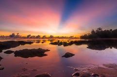 Sunrise tips of borneo simpang mengayau. This shoot taken during sunrise at tips of borneo near sulu sea Royalty Free Stock Image