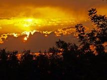Oklahoma Sunrise and sunbeams Royalty Free Stock Image