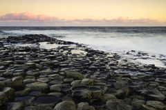 Sunrise tones at the famous Giant's Causeway Stock Image