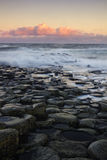 Sunrise at the famous Giant's Causeway Royalty Free Stock Image